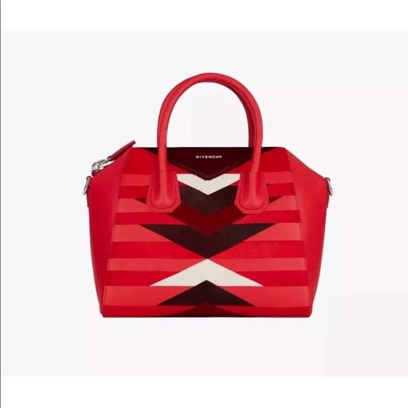 c992927fb3 Givenchy Small Antigona Bag Red RARE NWT